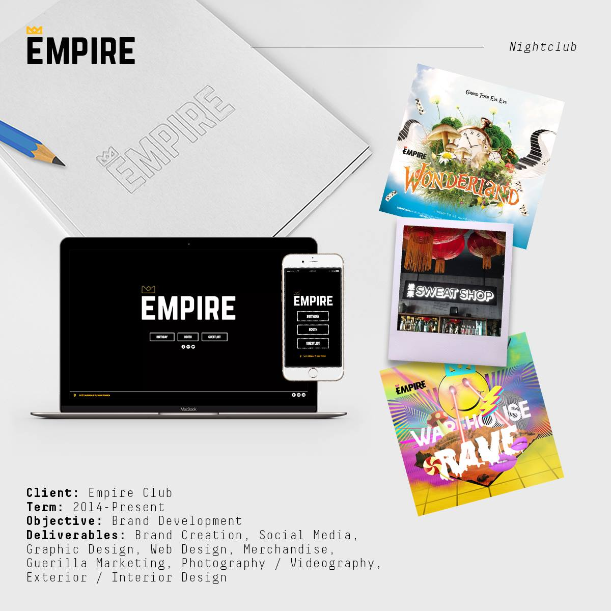 Empire Night Club Project Card