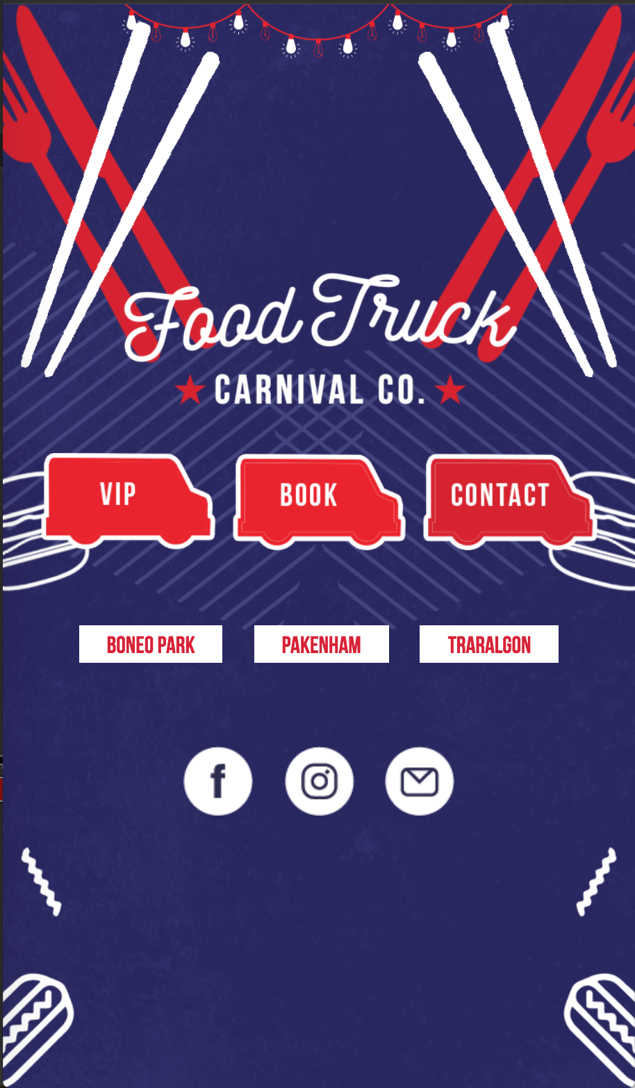 Food Truck Carnival Mobile Website Project Card