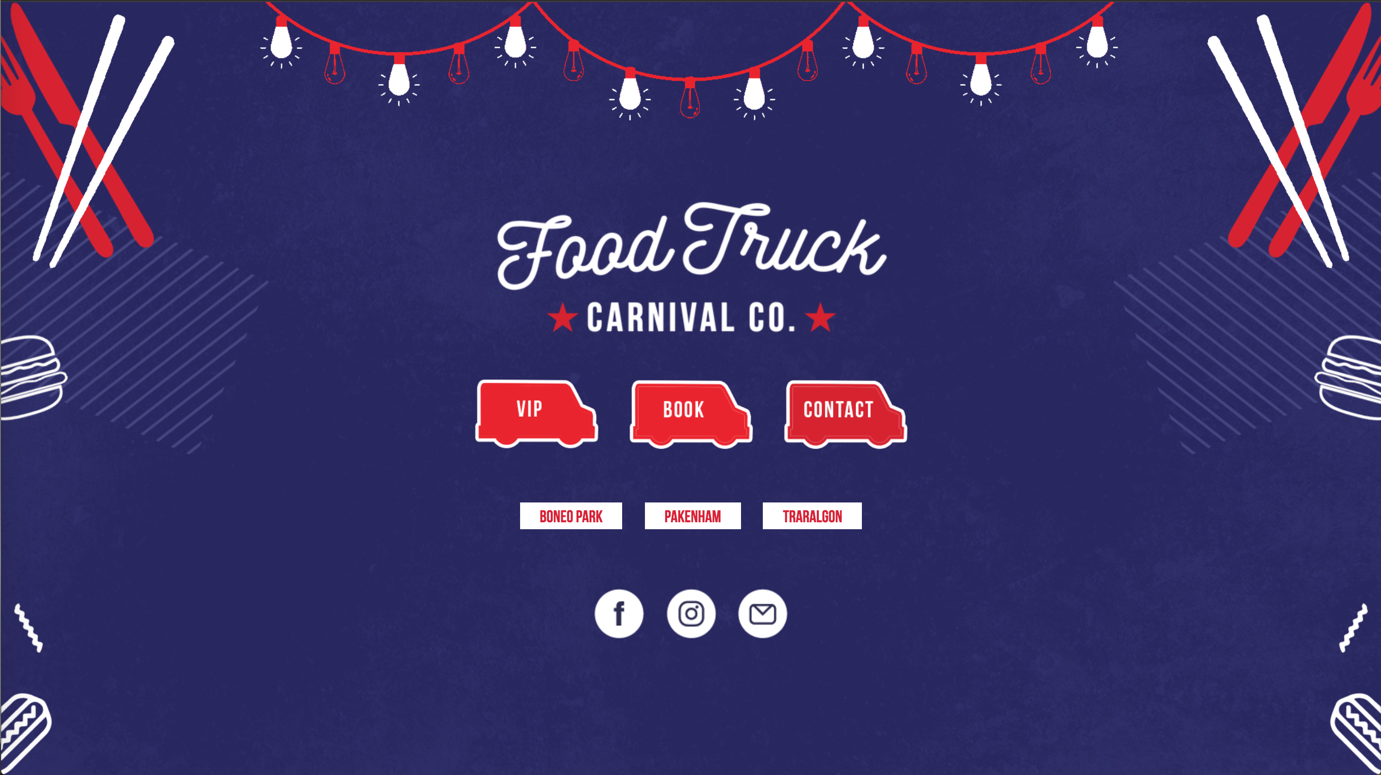 Food Truck Carnival Website Project Card