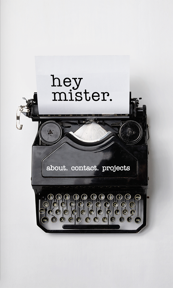 Hey Mister Mobile Website Project Card