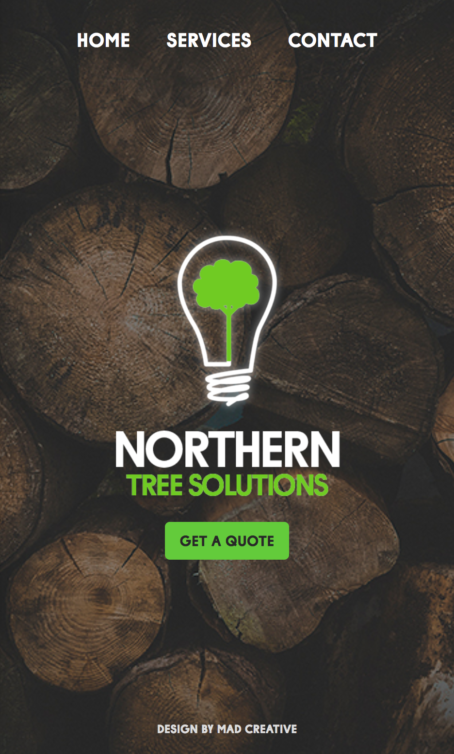 Northern Tree Solutions Mobile Website Project Card