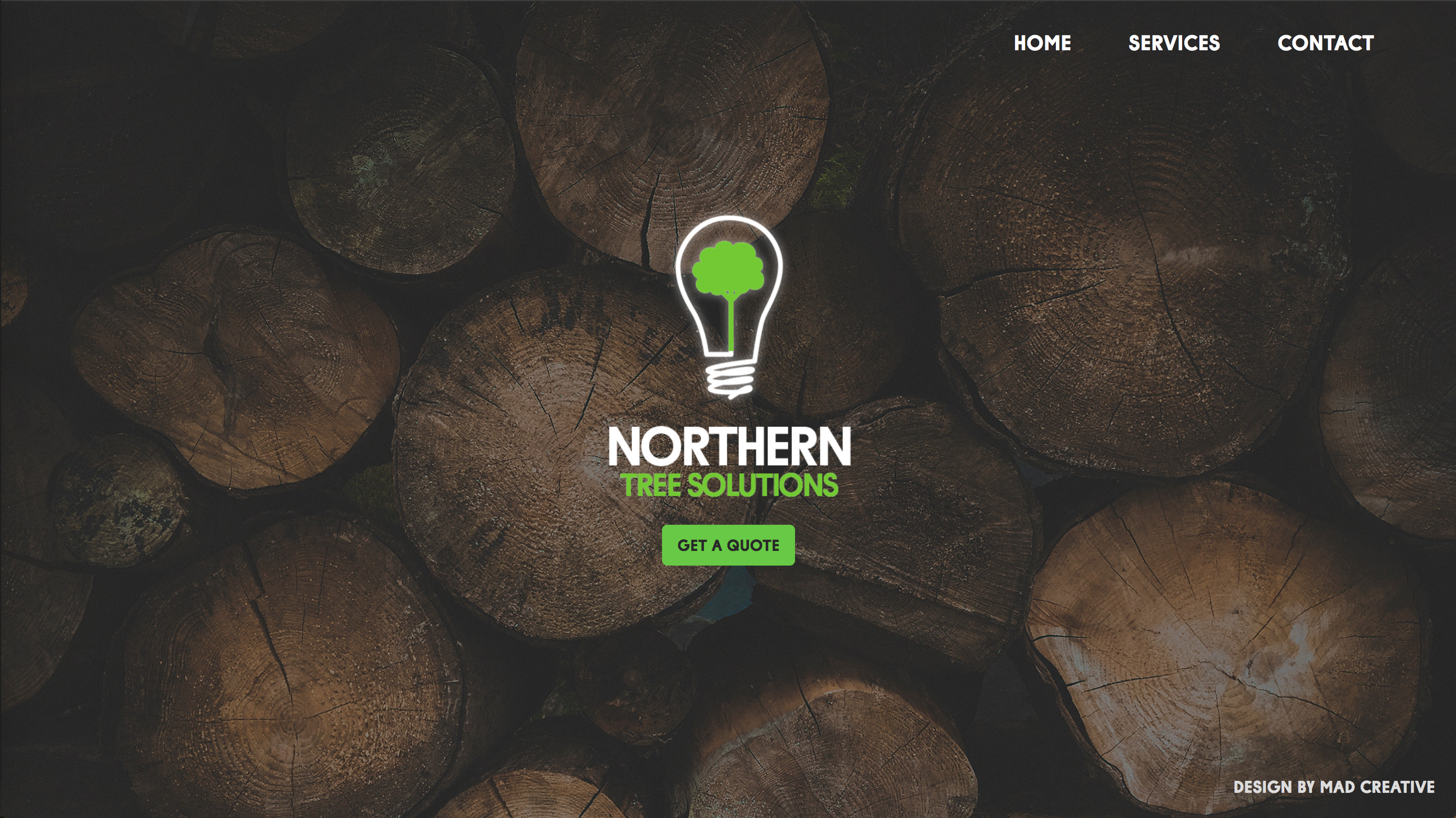 Northern Tree Solutions Website Project Card